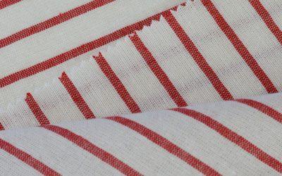 How do I cut a striped fabric?